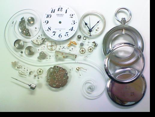 17.セイコー6110A手巻提げ時計(セイコー鉄道時計)分解掃除(オーバーホール)
