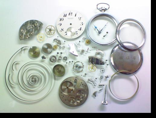 16.セイコー9119A手巻提げ時計(19セイコー鉄道時計)分解掃除(オーバーホール)