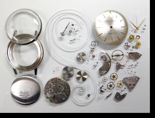 33.ロイヤルオリエントC手巻腕時計分解掃除(オーバーホール)