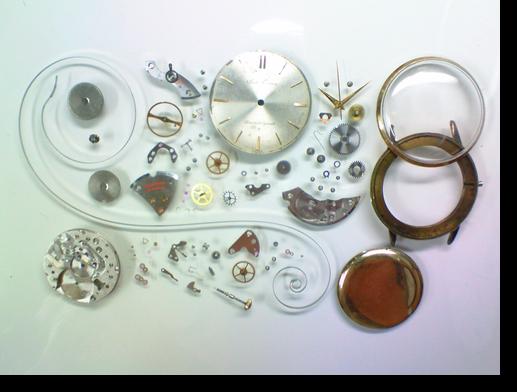 28.セイコークロノスC76手巻腕時計分解掃除(オーバーホール)
