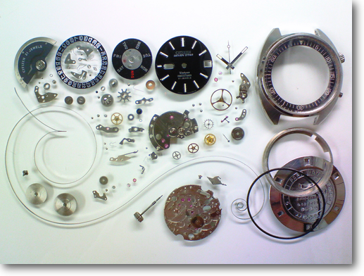 87.シチズンセブンスターデラックス5270E自動巻腕時計分解掃除(オーバーホール)