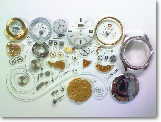 88.シチズンオートデーターセブン4130N自動巻腕時計分解掃除(オーバーホール)