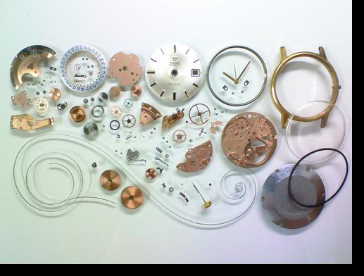 89.オメガΩ565自動巻腕時計分解掃除(オーバーホール)