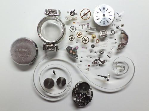 機械式腕時計修理---セイコーソーラ10C手巻腕時計  分解掃除(オーバーホール)【times-machine.com】《 時計修理 》【三田時計メガネ店@栃木県大田原市前田】