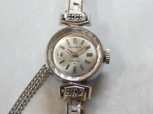 機械式腕時計修理---セイコーソーラ10C手巻腕時計【times-machine.com】《 時計修理 》【三田時計メガネ店@栃木県大田原市前田】