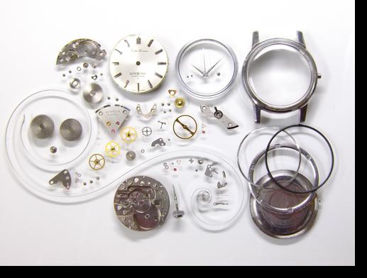 30.セイコークロノスW21手巻腕時計分解掃除(オーバーホール)