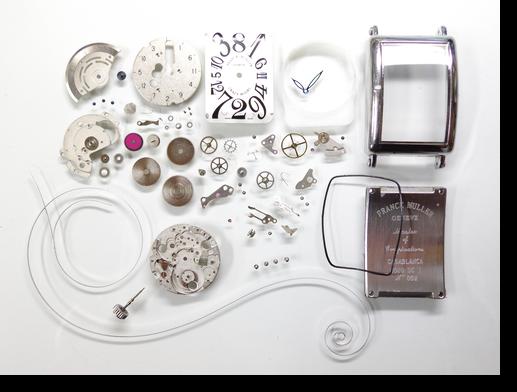 97.セカンドメイク・フランクミュラー自動巻腕時計分解掃除(オーバーホール)