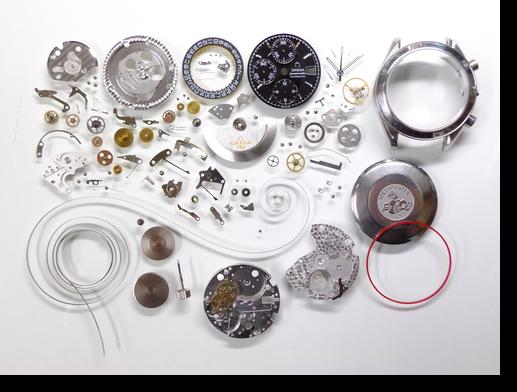 98.オメガスピードマスターΩ1152自動巻腕時計分解掃除(オーバーホール)