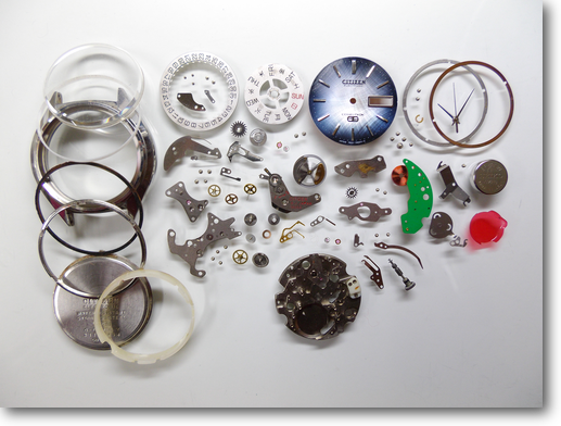 20.シチズンコスモトロン7804A電子腕時計分解掃除(オーバーホール)
