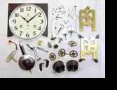 アイチ30日巻カギ巻柱時計分解掃除(オーバーホール)