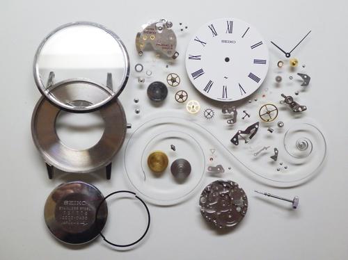 機械式腕時計修理---セイコーシャリオ2220A手巻腕時計 分解掃除(オーバーホール)【times-machine.com】《 時計修理 》【三田時計メガネ店@栃木県大田原市前田】