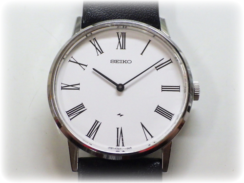 機械式腕時計修理---セイコーシャリオ2220A手巻腕時計【times-machine.com】《 時計修理 》【三田時計メガネ店@栃木県大田原市前田】