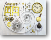 KI(森合資会社)8日巻カギ巻柱時計分解掃除(オーバーホール)