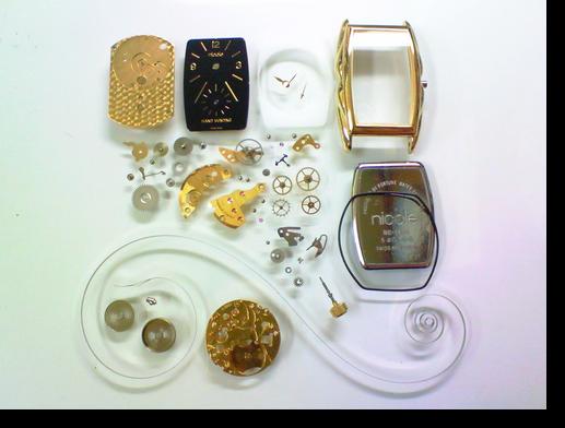 18.ニコル(nicole)H138011手巻腕時計分解掃除(オーバーホール)