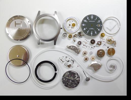 34.ハミルトンカーキETA2804-2手巻腕時計分解掃除(オーバーホール)