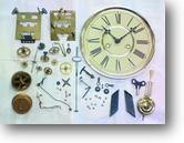 マジマ30日巻カギ巻柱時計分解掃除(オーバーホール)