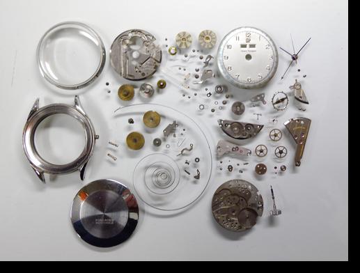 36.ジラールペルゴ手巻腕時計分解掃除(オーバーホール)