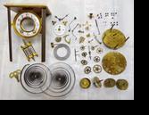 セイコー四方硝子8日巻カギ巻置時計分解掃除(オーバーホール)