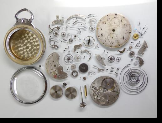 37.セイコー夜光秒時計一型69手巻提げ時計分解掃除(オーバーホール)