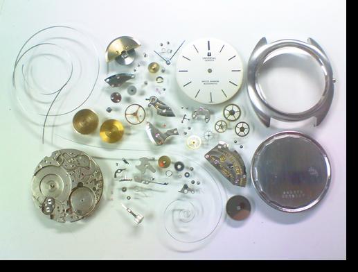 55.ユニバーサルホワイトシャドウ2-66自動巻腕時計分解掃除(オーバーホール)