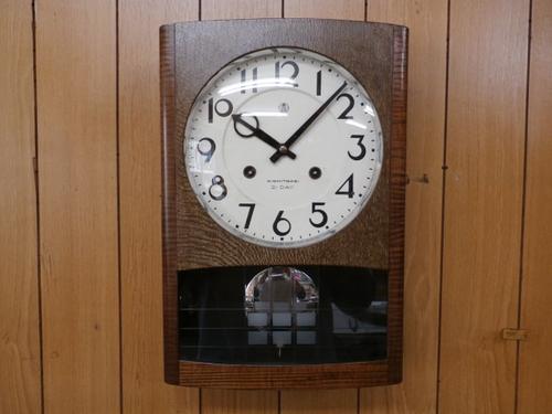 機械式柱時計修理---アイチ21日巻カギ巻柱時計【times-machine.com】《 時計修理 》【三田時計メガネ店@栃木県大田原市前田】