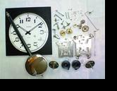 アイコー30日巻カギ巻柱時計 分解掃除(オーバーホール)