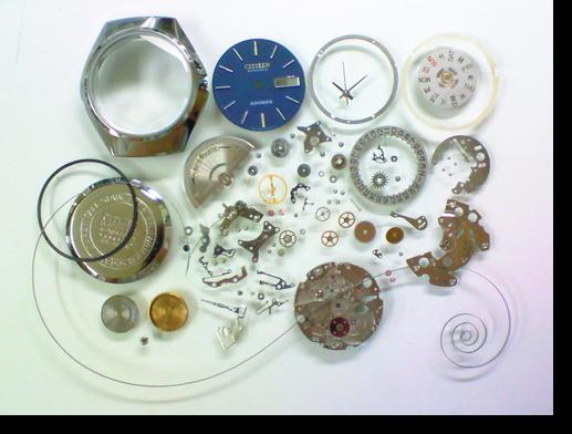 35.シチズンアドレックス8050A自動巻腕時計分解掃除(オーバーホール)
