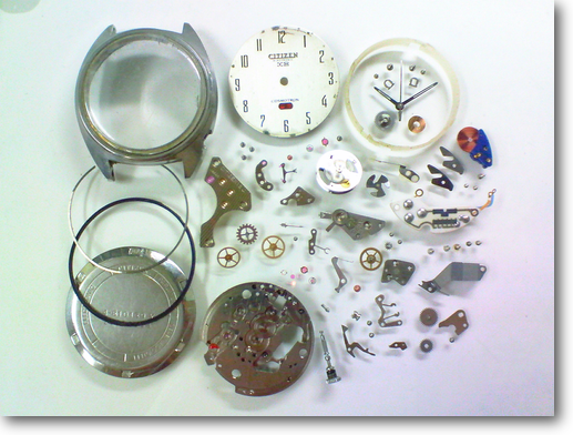 12.シチズンコスモトロンX80840電子腕時計 分解掃除(オーバーホール)
