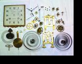 エイケイシャ8日巻カギ巻柱時計 分解掃除(オーバーホール)