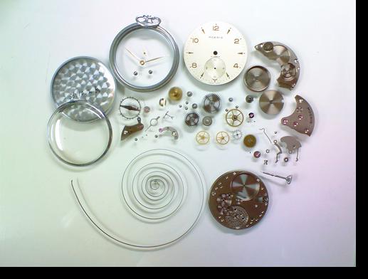 14.MOERIS16D手巻提時計分解掃除(オーバーホール)
