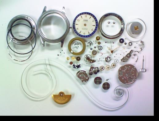 30.オリスポインターデイトETA2688自動巻腕時計分解掃除(オーバーホール)