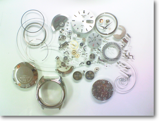 37.セイコー5DX5139A自動巻腕時計分解掃除(オーバーホール)