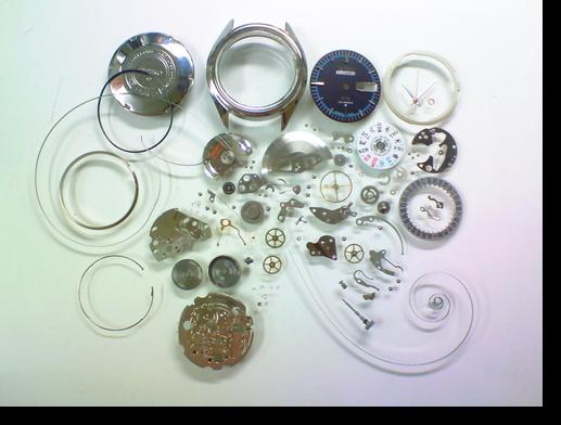 36.セイコー5アクタスSS6106A自動巻腕時計分解掃除(オーバーホール)
