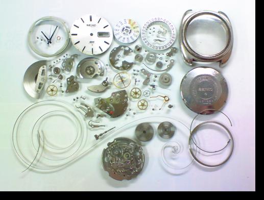 45.セイコーDX6106A自動巻腕時計分解掃除(オーバーホール)