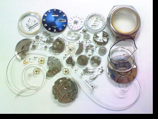 42.セイコー5アクタスSS6106A自動巻腕時計分解掃除(オーバーホール)