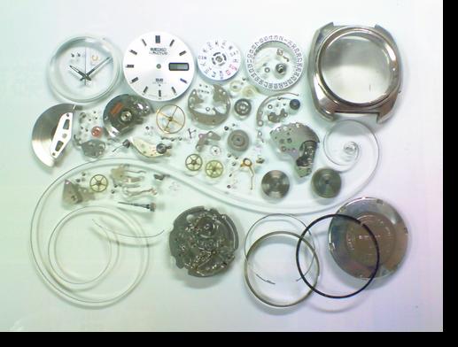 43.セイコー5アクタスSS6106A自動巻腕時計分解掃除(オーバーホール)