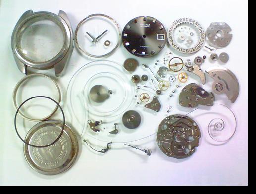 41.セイコー7005A自動巻腕時計分解掃除(オーバーホール)