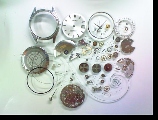 32.セイコーマチック-R8305C自動巻腕時計分解掃除(オーバーホール)