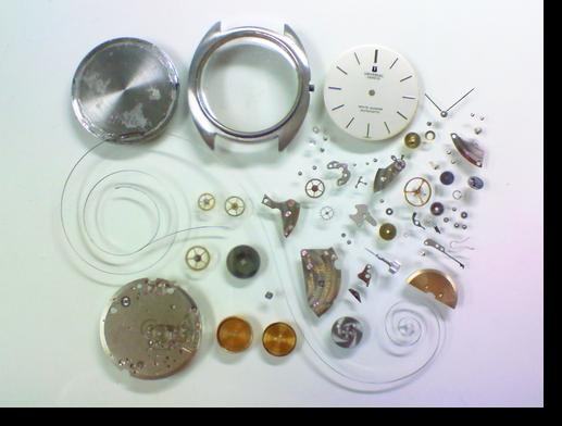 33.ユニバーサルホワイトシャドウ2-66自動巻腕時計分解掃除(オーバーホール)