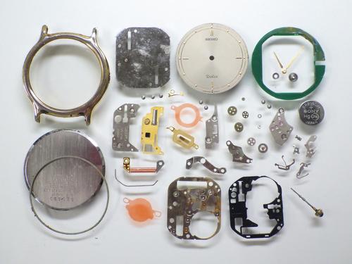 クォーツ式腕時計修理---セイコードルチェ9530Aクォーツ腕時計  分解掃除(オーバーホール)【times-machine.com】《 時計修理 》【三田時計メガネ店@栃木県大田原市前田】