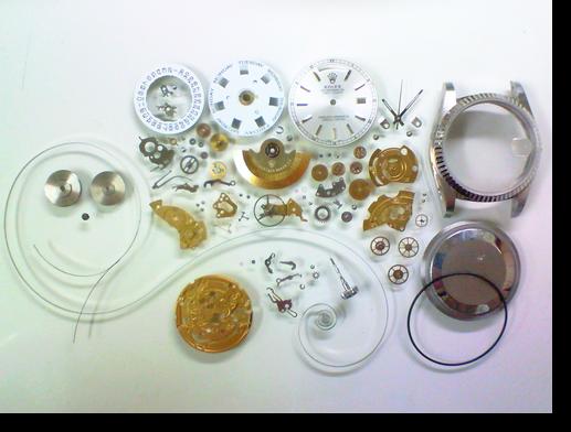 60.セカンドメイク・ロレックスETA2834-2自動巻腕時計分解掃除(オーバーホール)