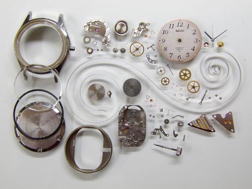 機械式腕時計修理---セイコーハイビート36000 1944B手巻腕時計 分解掃除(オーバーホール)【times-machine.com】《 時計修理 》【三田時計メガネ店@栃木県大田原市前田】