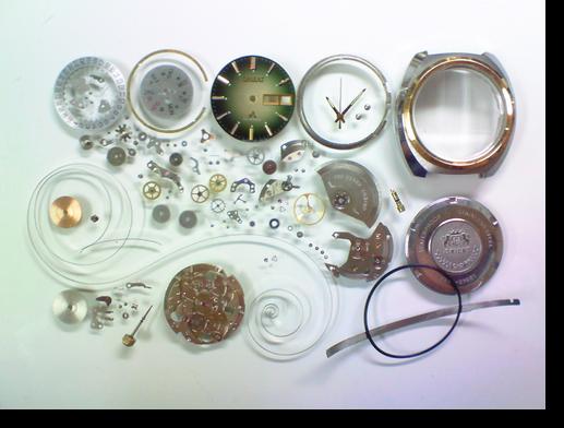 63.オリエントクロノエース42950自動巻腕時計分解掃除(オーバーホール)