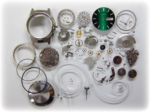 機械式腕時計修理---セイコージョイフル2206A自動巻腕時計 分解掃除(オーバーホール)【times-machine.com】《 時計修理 》【三田時計メガネ店@栃木県大田原市前田】