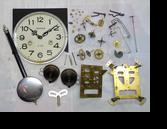アイコー31日巻カギ巻柱時計分解掃除(オーバーホール)
