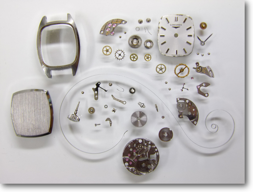 41.ロンジン320手巻腕時計分解掃除(オーバーホール)