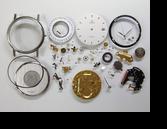オメガデビルETA255111クォーツ腕時計分解掃除(オーバーホール)