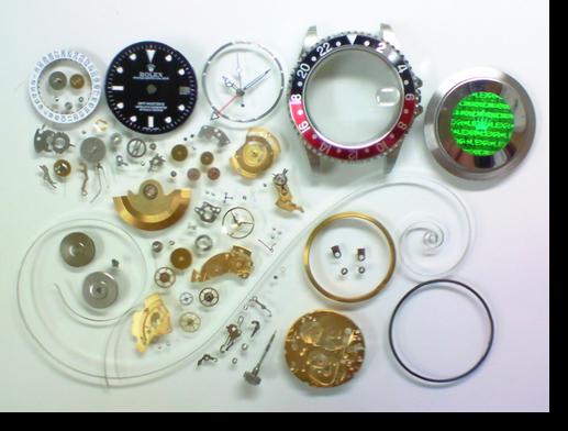 69.セカンドメイク・ロレックスETA2836-2自動巻腕時計分解掃除(オーバーホール)