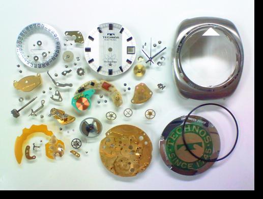 15.テクノステクノトロンESAY29154電子腕時計分解掃除(オーバーホール)