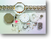 シチズンYSLイヴサンローラン2200Aクォーツ腕時計分解掃除(オーバーホール)